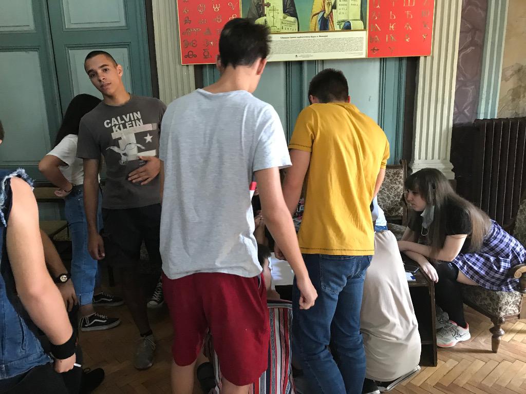 Дискусия за правата на човека в Хуманитарната гимназия