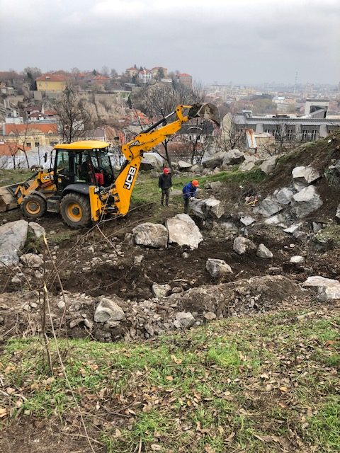 Започна ландшафтното възстановяване на Дановия хълм